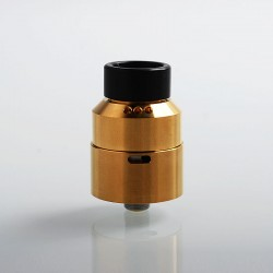 Moseone V2 Style RDA Rebuildable Dripping Atomizer - Gold, Stainless Steel, 24mm Diameter