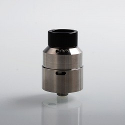 Moseone V2 Style RDA Rebuildable Dripping Atomizer - Silver, Stainless Steel, 24mm Diameter