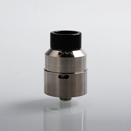 Mose' One V2 Style RDA Rebuildable Dripping Atomizer - Silver, Stainless Steel, 24mm Diameter