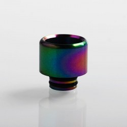 Authentic Vapesoon 510 Replacement Drip Tip for RDA / RTA / Sub Ohm Tank Atomizer - Rainbow, Stainless Steel, 15mm