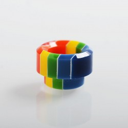 Authentic Vapesoon 810 Replacement Drip Tip for 528 Goon / Reload / Battle RDA - Rainbow, Resin, 12mm