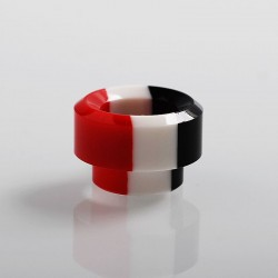 Authentic Vapesoon 810 Replacement Drip Tip for 528 Goon / Reload / Battle RDA - Black + White + Red, Resin, 12mm