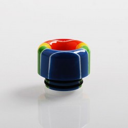 Authentic Vapesoon 810 Replacement Drip Tip for TFV8 / TFV12 Tank / 528 Goon / Kennedy / Reload RDA - Rainbow, Resin, 14mm