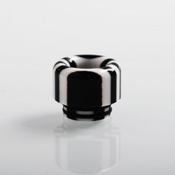 Authentic Vapesoon 810 Replacement Drip Tip for TFV8 / TFV12 Tank / 528 Goon / Kennedy / Reload RDA - Black + White, Resin, 14mm