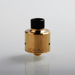 YC Vape Hadaly Style RDA Rebuildable Dripping Atomizer w/ BF Pin - Brass, Brass + 316 Stainless Steel, 22mm Diameter