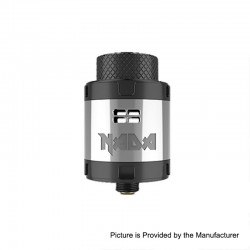 Authentic Tigertek Nada RDA Rebuildable Dripping Atomizer w/ BF Pin - SS, Stainless Steel, 25mm Diameter