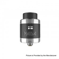 Authentic Tigertek Nada RDA Rebuildable Dripping Atomizer w/ BF Pin - Black, Stainless Steel, 25mm Diameter