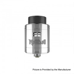 Authentic Tigertek Nada RDA Rebuildable Dripping Atomizer w/ BF Pin - Full SS, Stainless Steel, 25mm Diameter