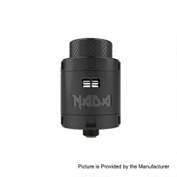 Authentic Tigertek Nada RDA Rebuildable Dripping Atomizer w/ BF Pin - Full Black, Stainless Steel, 25mm Diameter