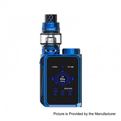 Authentic SMOKTech SMOK G-PRIV Baby 85W TC VW Box Mod + TFV12 Baby Prince Tank Kit - Prism Blue, 1~85W, 1 x 18650, 4.5ml