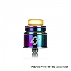 Authentic Hotcig Hades RDA Rebuildable Dripping Atomizer w/ BF Pin - Rainbow, Stainless Steel, 24mm Diameter