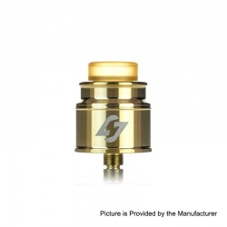 Authentic Hotcig Hades RDA Rebuildable Dripping Atomizer w/ BF Pin - Gold, Stainless Steel, 24mm Diameter