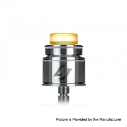 Authentic Hotcig Hades RDA Rebuildable Dripping Atomizer w/ BF Pin - Silver, Stainless Steel, 24mm Diameter