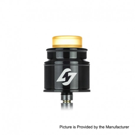Authentic Hotcig Hades RDA Rebuildable Dripping Atomizer w/ BF Pin - Black, Stainless Steel, 24mm Diameter