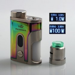 Authentic Eleaf Pico Squeeze 2 100W TC VW Variable Wattage Squonk Box Mod + Coral 2 RDA Kit - Dazzling, 1 x 18650 / 21700, 8ml