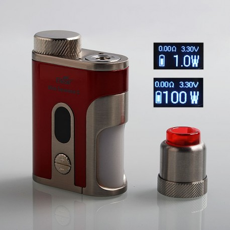 Authentic Eleaf Pico Squeeze 2 100W TC VW Variable Wattage Squonk Box Mod + Coral 2 RDA Kit - Red, 1 x 18650 / 21700, 8ml