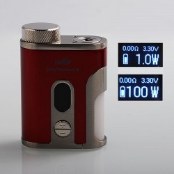 Authentic Eleaf Pico Squeeze 2 100W TC VW Variable Wattage Squonk Box Mod - Red, 1 x 18650 / 21700, 8ml