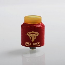 Authentic ThunderHead Creations THC Tauren RDA Rebuildable Dripping Atomizer w/ BF Pin - Red, Brass, 24mm Diameter