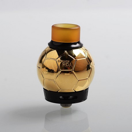 Authentic Fumytech Ballon RDA Rebuildable Dripping Atomizer w/ BF Pin - Gold, Stainless Steel, 32.7mm Diameter
