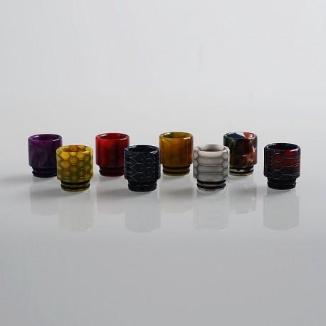 Authentic Aleader 810 Drip Tip Kit for TFV12 / TFV8 / Goon / Kennedy / Apocalypse - Random Color, Resin (8 PCS)