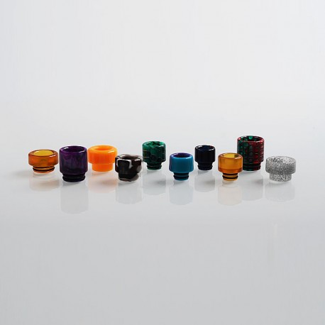Authentic Aleader 510 + 810 Drip Tip Kit for RTA / RDA Atomizer - Random Color, Resin + PEI (10 PCS)