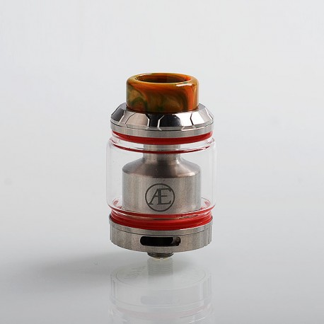 Authentic ShenRay Art Elite RTA Rebuildable Tank Atomizer - Silver, 316 Stainless Steel, 3.5ml, 25.5mm Diameter