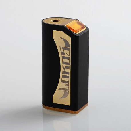 Lokos Style Hybrid Mechanical Box Mod - Black, POM + Brass, 1 x 18650
