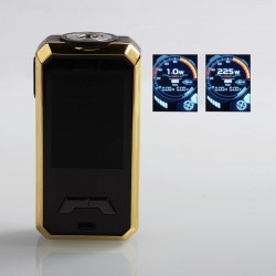 Authentic Smoant Charon Mini 225W TC VW Variable Wattage Box Mod - Gold, 1~225W, 2 x 18650