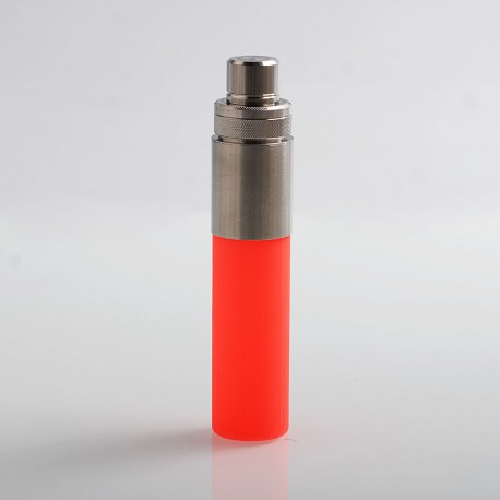 Authentic Wotofo Stentorian Easy Refill Squonk Bottle - Red, Stainless Steel + Silicone, 30ml