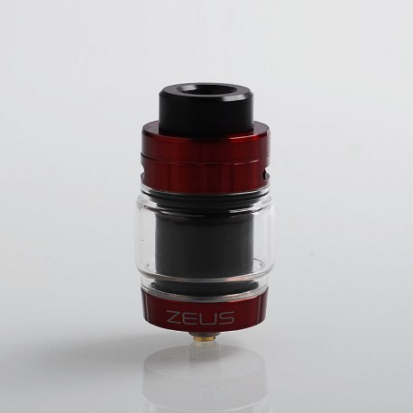 Authentic GeekVape Zeus Dual RTA Rebuildable Tank Atomizer Standard Edition - Red + Black, Stainless Steel, 4ml, 26mm Diameter