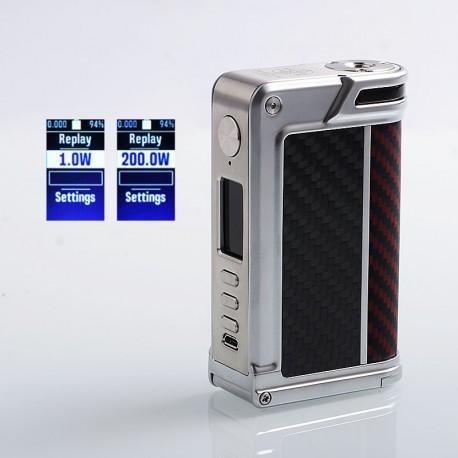 Authentic Lost Vape Paranormal DNA250C 200W TC VW Box Mod - Silver + Wood + Carbon Fiber + Red Black Kevlar, 1~200W, 2 x 18650