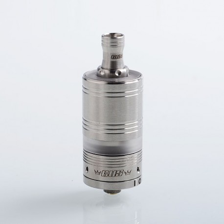 IOU-R Style MTL RTA Rebuildable Tank Atomizer - Silver, 316 Stainless Steel + PC, 3ml, 22mm Diameter