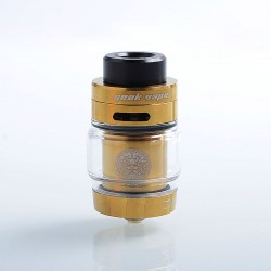 Authentic GeekVape Zeus Dual RTA Rebuildable Tank Atomizer Standard Edition - Gold, Stainless Steel, 4ml, 26mm Diameter
