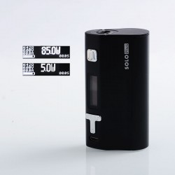 Authentic Ijoy Solo Plus 85W TC Temperature Control VW Variable Wattage APV Box Mod - Black, 5~85W, 1 x 26650