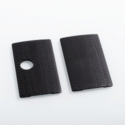 SJMY Replacement Front + Back Cover Panel for SXK BB Style Box Mod - Black, Carbon Fiber (2 PCS)