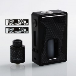 Authentic Aleader Bhive 100W TC VW Variable Wattage Squonk Box Mod + RDA Kit - Black, Resin + Zinc Alloy, 1~100W, 1 x 18650