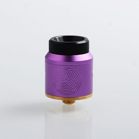 Authentic Advken Artha RDA Rebuildable Dripping Atomizer w/ BF Pin - Purple, Stainless Steel, 24mm Diameter