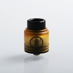 Authentic Advken Breath RDA Rebuildable Dripping Atomizer w/ BF Pin - Yellow, PEI + Stainless Steel, 24mm Diameter