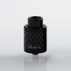 Authentic Aleader Bhive RDA Rebuildable Dripping Atomizer w/ BF Pin - Dignity Black, Stainless Steel, 24mm Diameter