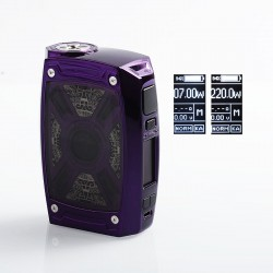 Authentic Tesla XT 220W TC VW Variable Wattage Box Mod - Purple, Zinc Alloy, 2 x 18650 / 20700 / 21700