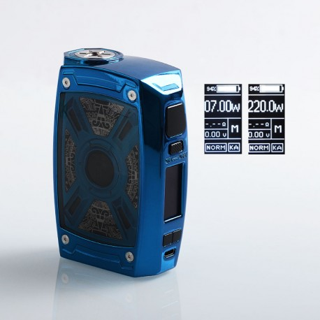 Authentic Tesla XT 220W TC VW Variable Wattage Box Mod - Blue, Zinc Alloy, 2 x 18650 / 20700 / 21700