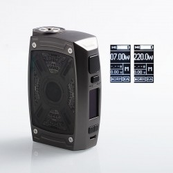 Authentic Tesla XT 220W TC VW Variable Wattage Box Mod - Gun Metal, Zinc Alloy, 2 x 18650 / 20700 / 21700