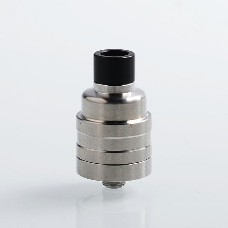 YFTK Duetto Reborn Style RDA Rebuildable Dripping Atomizer w/ BF Pin - Silver, 316 Stainless Steel, 22mm Diameter