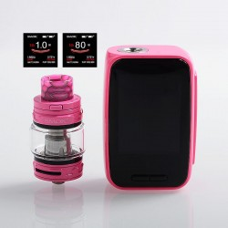 Authentic SMOKTech SMOK X-Priv Baby 80W 2300mAh TC VW Box Mod + TFV12 Big Baby Prince Tank Kit - Auto Pink, 1~80W, 6ml