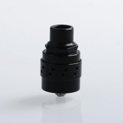 Authentic Cthulhu Iris Mesh RDA Rebuildable Dripping Atomizer w/ BF Pin - Black, Stainless Steel, 24mm Diameter