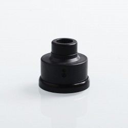 YFTK Replacement 510 Drip Tip + Top Cap + Decorative Ring Kit for Haku Venna Style RDA - Black, POM + PEI