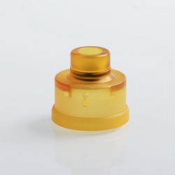 YFTK Replacement 510 Drip Tip + Top Cap + Decorative Ring Kit for Haku Venna Style RDA - Yellow, PEI