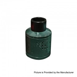 Authentic Willie Vapor COO TS RDA Rebuildable Dripping Atomizer - Green, Stainless Steel, 30mm Diameter