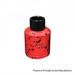 Authentic Willie Vapor COO TS RDA Rebuildable Dripping Atomizer - Red, Stainless Steel, 30mm Diameter