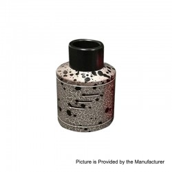 Authentic Willie Vapor COO TS RDA Rebuildable Dripping Atomizer - Grey, Stainless Steel, 30mm Diameter
